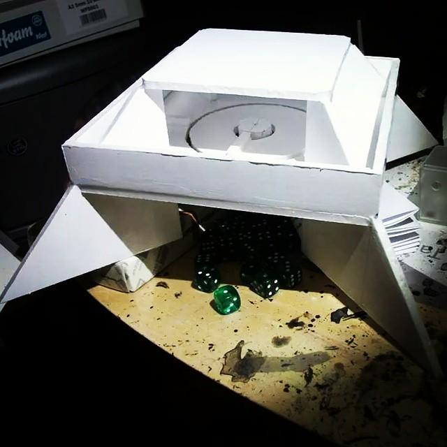 A prototype foamboard design of the Hummingbird active stabilisation structurehellip